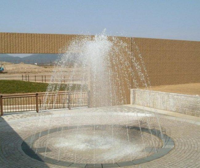 親水型水景設備 下関山陽終末処理場