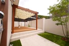 素敵なリビングテラス こんなお庭空間がほしかった 岡山市 中区 外構工事