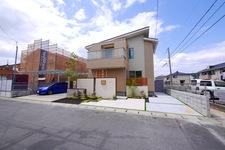モダンな壁デザイン 素敵な外構 岡山市