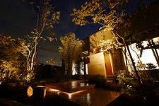 雑木と浮かぶアプローチ 自然のあるお家