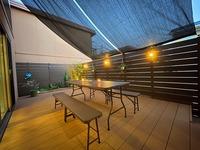 ウッドデッキと目隠しフェンス リフォーム プライベート空間づくり 岡山市