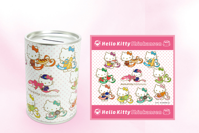 2020.11.NEW  Hello Kitty Shinkansen 貯金缶&ミニタオル