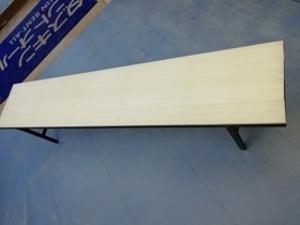 プラスチックベンチ(白)180cm