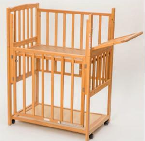 スモール立ちベッド ツーオープン (収納棚付)