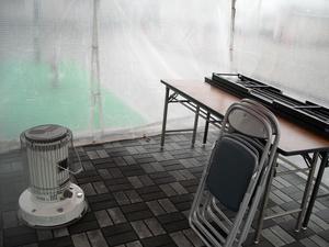 冬イベントは 暖房器具をレンタルで。