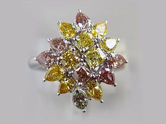 PT900 ファンシーカラーダイヤモンドリング