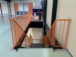 階段手摺(スチール製・製作品)