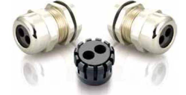多芯型メタルケーブルグランド(2芯)
