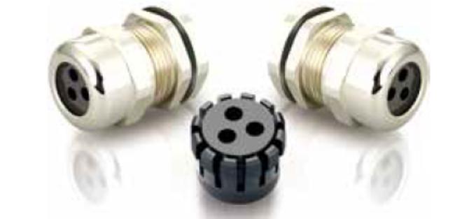多芯型メタルケーブルグランド(3芯)