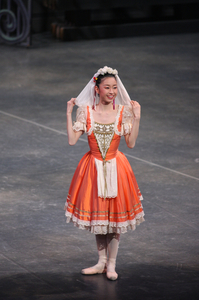 コッペリア【全幕】            役名:スワニルダ(1幕) サイズ:S×1、M×1 ¥8.000- 2サイズ有ります。肩のレースが民族的で素敵です。