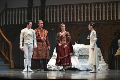 ロミオとジュリエット【全幕】 ジュリエットのママ(右から2番目) サイズ:L×1 ¥8,000- アシンメトリーのフレアスカートがお洒落。