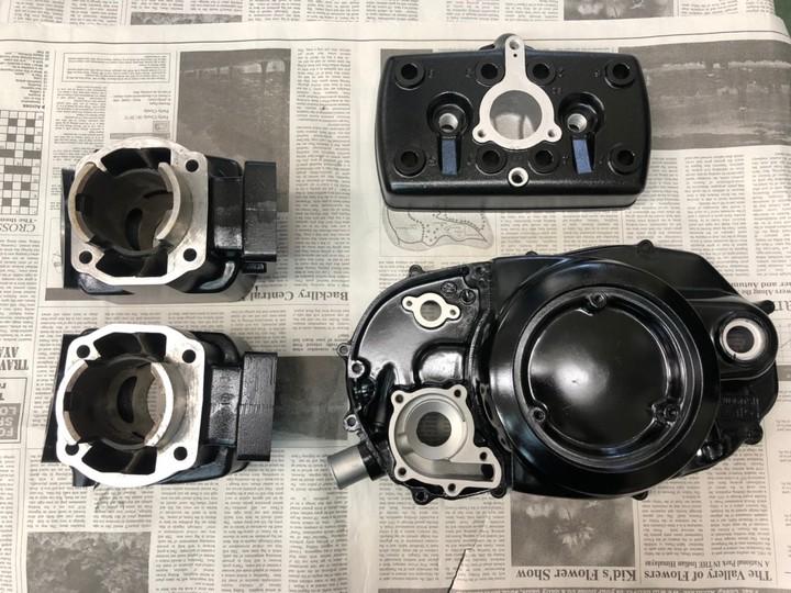 RZ250 エンジン一式 サテンブラック  参考価格¥78000~