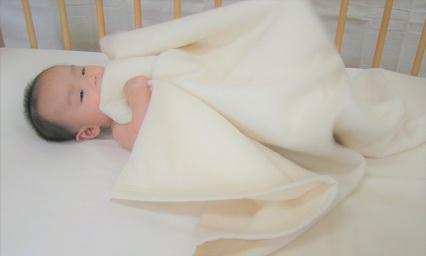 オーガニックベビー 綿毛布(MO100)  オフホワイト1
