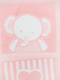 ベビー毛布     毛羽部分 綿100%ジャガード(織り柄)フレンド柄3