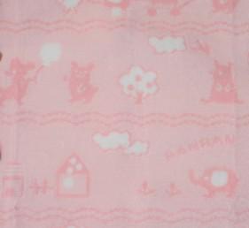 ベビー毛布     毛羽部分 綿100%ジャガード(織り柄)北欧柄3
