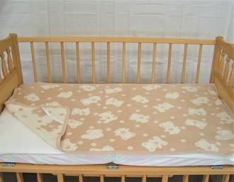 オーガニックコットンベビー敷綿毛布(MOS300)1