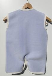 ベビースリーパー 綿100% ラベンダー✕白3