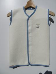 ベビースリーパー 綿100% アイボリー✕青3
