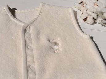 オーガニック綿使用/綿毛布スリーパー3