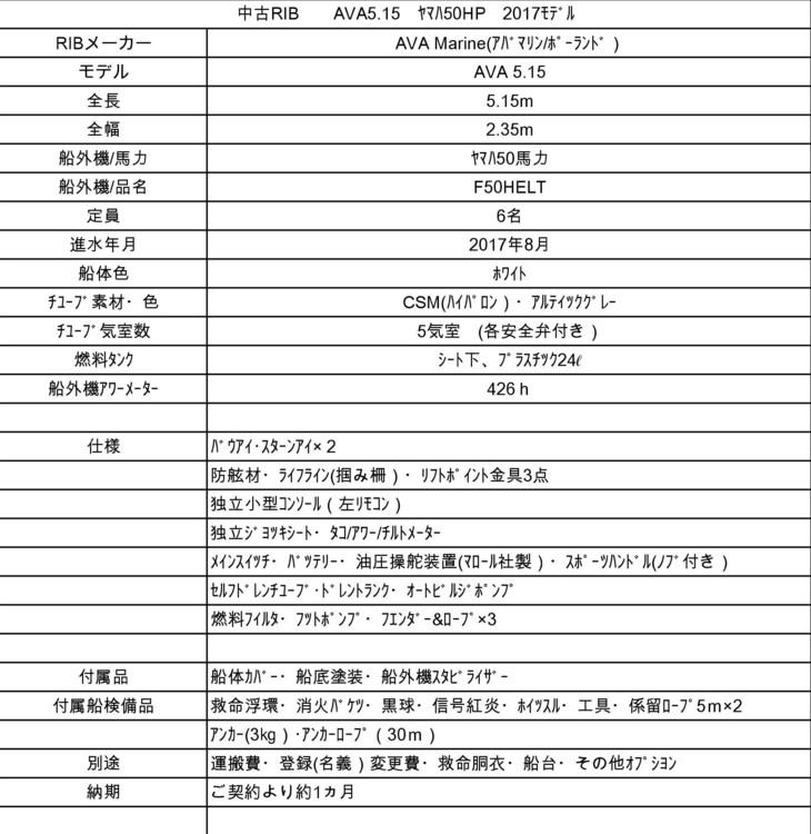 【売約済】AVA 5.15