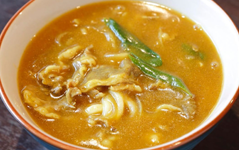 Udon with curried meat