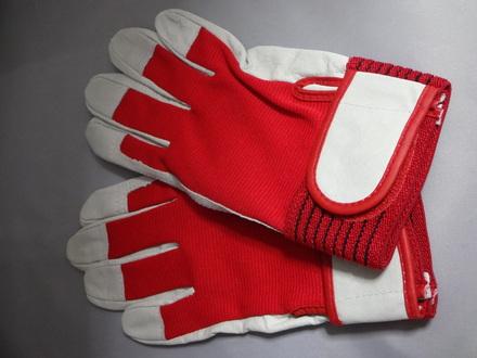 (サワダマキ)SWD-4090誠豚革クレストマジック手袋 レッド