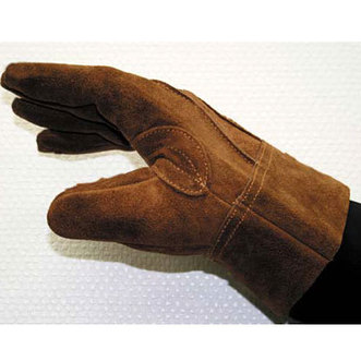 ユニワールド445 オイルブラウン牛床革背縫い皮手 M・L