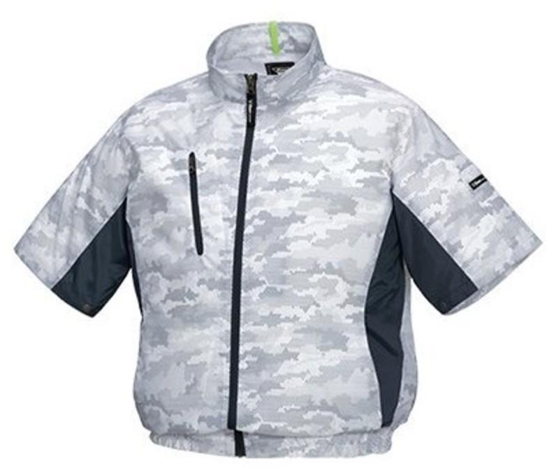 空調服 迷彩半袖ブルゾンXE98006